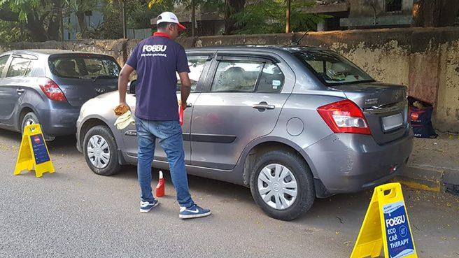 fobbu water less car wash